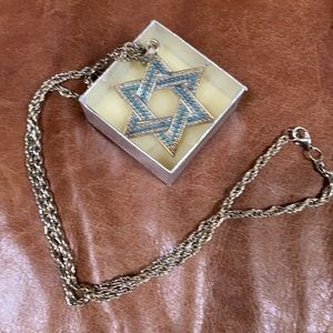 Star of David Silver Pendant Necklace